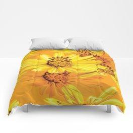 Watercolor Yellow Daisies Comforters