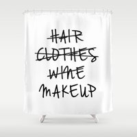 makeup Shower Curtains featuring Makeup by I Love Decor