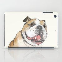 bulldog iPad Cases featuring bulldog  by Laura Graves