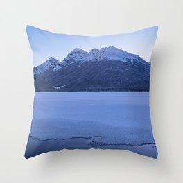 frosty ending Throw Pillow