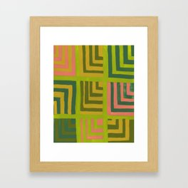 Painted Color Block Squares Framed Art Print