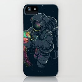 Astronaut and Jellyfish iPhone Case