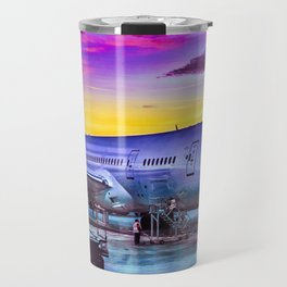 Plane Parked at Barajas Airport, Madrid, Spain Travel Mug