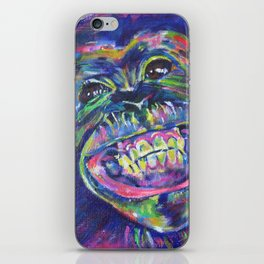 The chimp smiles iPhone Skin