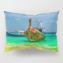Thai Longboats Art Pillow Sham