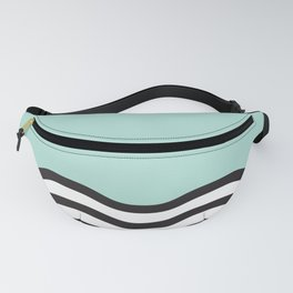 Waves of Green Fanny Pack