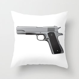 Browning Hi Power Throw Pillow