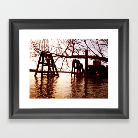 Rusted River Framed Art Print
