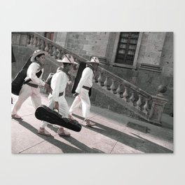 Huicholes from Guadalajara  Canvas Print