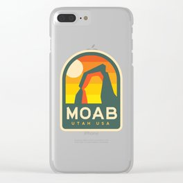 Moab Utah Patch Clear iPhone Case
