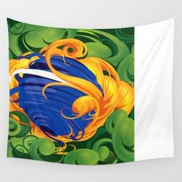 Brazilian Flag Wall Tapestry