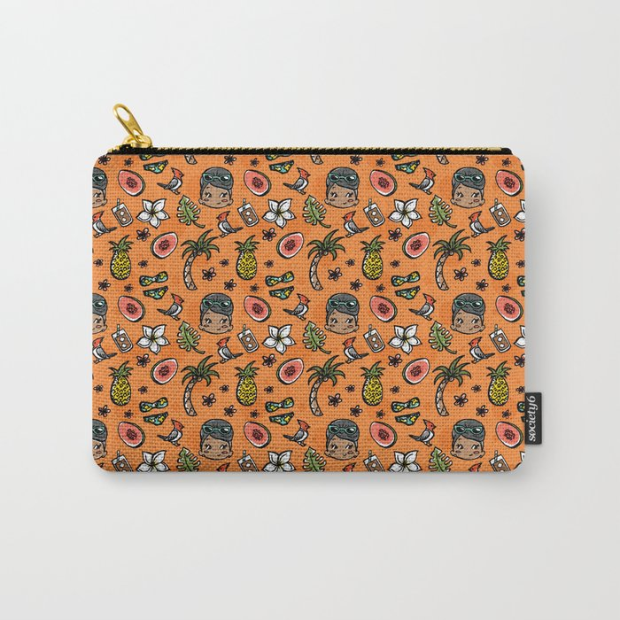 Hawaiian Dreaming - Orange Carry-All Pouch