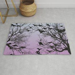 Crow flock Rug