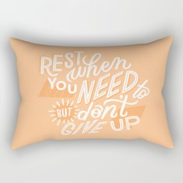 rest when you need to Rectangular Pillow