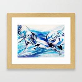 LOVE COMMOTION Framed Art Print