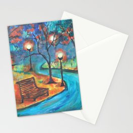 Evening walk Stationery Cards