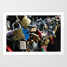 Love Locks ~ True Love Art Print