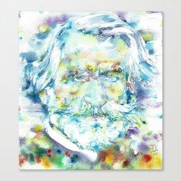 GIUSEPPE VERDI - watercolor portrait Canvas Print