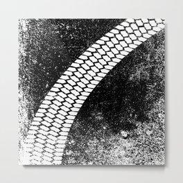 Grunge Skid Mark Metal Print