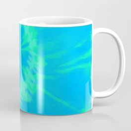 Tie dye neon blue Coffee Mug
