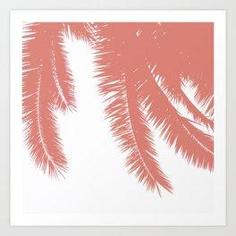 Palm Leaves - Terracotta Art Print
