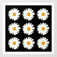 daisy Art Prints featuring Daisy by nessieness