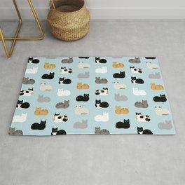 Cat Loaf Print Rug