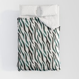 Here Kitty Kitty - Teal Comforters