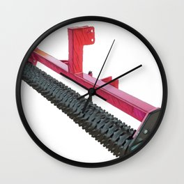 Agriculture Cultipacker agricultural equipment dirt clods seedbed land Wall Clock