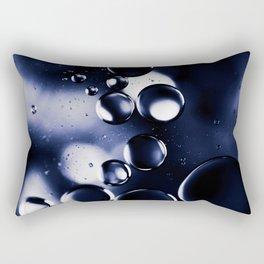 deep purple blue tones macro water droplets Rectangular Pillow