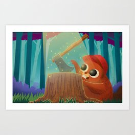 Beaver and the Axe Art Print