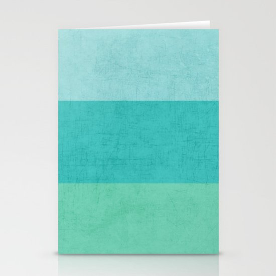 three stripes - teal Stationery Cards