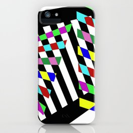 Lost Dimension - Abstract 3D style, multicoloured, geometric artwork iPhone Case