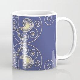 Blue Nouveau Coffee Mug