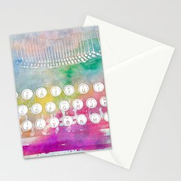 Watercolor typewriter Stationery Cards