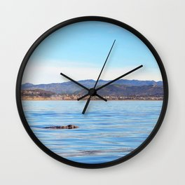 Grey Whale at Dusk Wall Clock