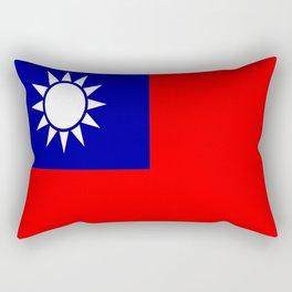 flag of taiwan- asia,china,Zhōnghuá Mínguó,Taiwanese,  mandarin,taipei,Kaohsiung,Taichung,Formosa Rectangular Pillow