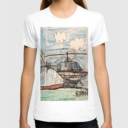 Fire Quenching Helicopter T-shirt