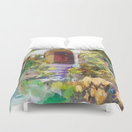 Spanish Garden Duvet Cover