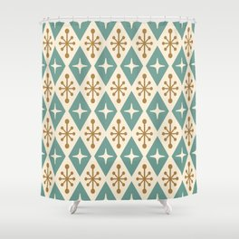 Mid Century Modern Atomic Triangle Pattern 102 Shower Curtain