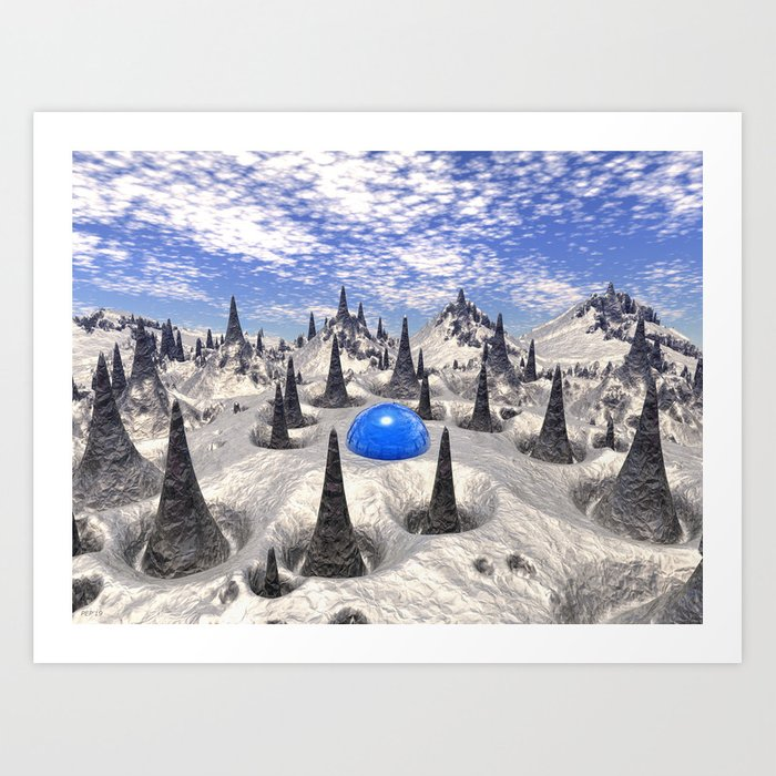 Sci Fi Cone Canyon Art Print