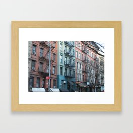 St. Marks Place East Village Apartments Framed Art Print