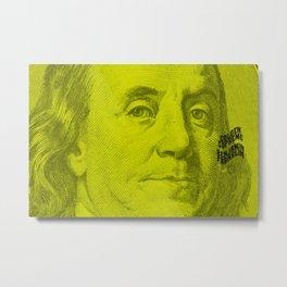 Benjamin Light (green lemon) Metal Print