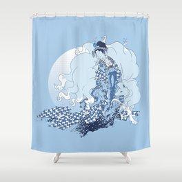 Alolan Ninetales Daji Shower Curtain