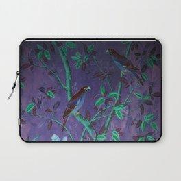 Aubergine & Teal Chinoiserie Laptop Sleeve