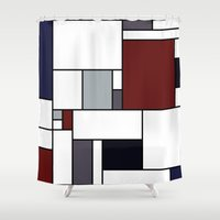 marceline Shower Curtains featuring Mar Mar by S. Michelle Reese