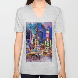 New York Panorama Unisex V-Neck