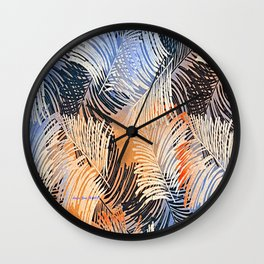 Palm Leaves By Annie Zeno Wall Clock