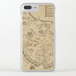 Map of Barbados 1673 Clear iPhone Case