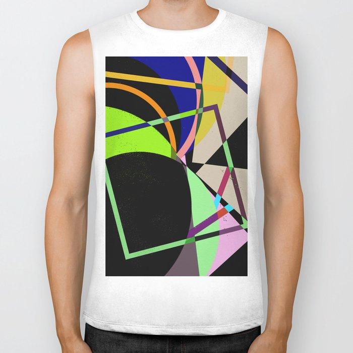 Retro Pastel X - Abstract, geometric, scandinavian pattern artwork Biker Tank